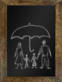 Concept of happy family in safety Royalty Free Stock Photography