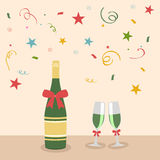 Concept of Happy New Year celebration party. Stock Images