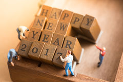 Concept of Happy New year 2017 celebration. Stock Photo