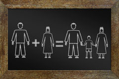 Concept of happy traditional family Royalty Free Stock Photos