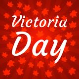 Concept of Happy Victoria Day in Canada. stock photos