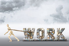 Concept of the hard work Royalty Free Stock Images