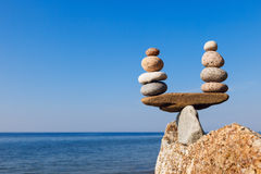 Concept of harmony and balance. Balance and poise stones. Royalty Free Stock Photography