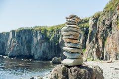 Concept of harmony and balance. Rock Zen royalty free stock photo