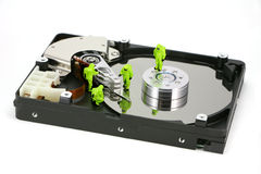 Concept: HAZMAT remove virus Stock Image