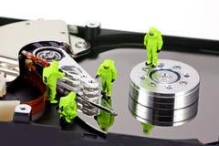 Concept: HAZMAT verwijdert virus Stock Afbeeldingen
