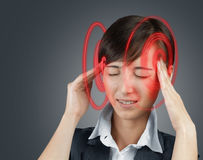 Concept of headache Royalty Free Stock Photography
