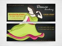 Concept of  header for dance academy. Stock Photography