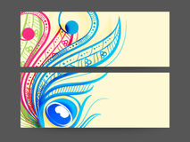 Concept of header with floral pattern. Stock Image