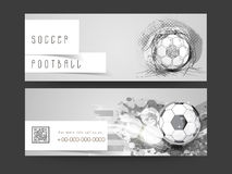 Concept of  header for football match. Stock Photo
