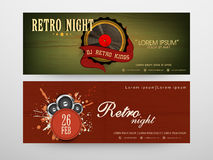 Concept of  header for party nights. Stock Image