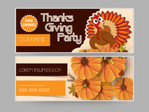 Concept of  header for thanks giving party. Stock Image