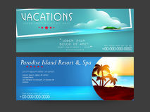 Concept of  header for tour and travels. Stock Images