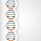 Concept of health and medical with DNA. Stock Image