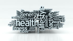 Concept of health and wellness Royalty Free Stock Image