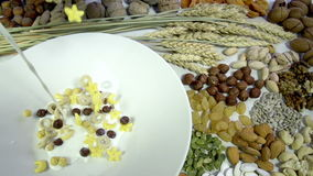 Concept of Healthy Breakfast stock video footage