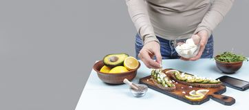 Healthy eating. breakfast, cheese, snack, diet, vegetarian, copy space. free space for text. royalty free stock images