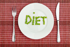 Concept: healthy  food  and diet. the word Stock Image