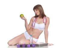 Concept of healthy lifestyle. Royalty Free Stock Photo