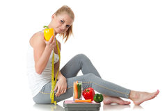 Concept of healthy lifestyle. Stock Image