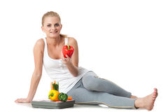 Concept of healthy lifestyle. Stock Images