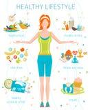 concept healthy lifestyle διανυσματική απεικόνιση
