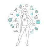 concept healthy lifestyle Στοκ εικόνα με δικαίωμα ελεύθερης χρήσης