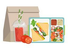 The concept of a healthy lifestyle, losing weight, lose weight. Lunchbox with healthy food. The concept of a healthy lifestyle, losing weight, lose weight Stock Photography