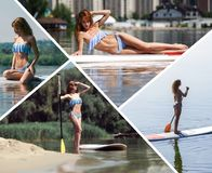Collage on a theme of leisure Royalty Free Stock Images