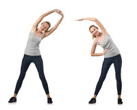 Concept of healthy lifestyle in set Stock Images