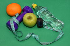 The concept of a healthy lifestyle, sports and diet Royalty Free Stock Photography