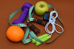 The concept of a healthy lifestyle, sports and diet Stock Photo