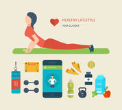 Concept of healthy lifestyle.  Young woman Royalty Free Stock Photos