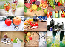 The concept of a healthy lifestyle for your healthy life Royalty Free Stock Images
