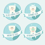 Concept of healthy teeth, icon set,  illustration Stock Image