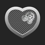 Concept heart with gears. Stock Photos