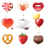Concept hearts set Royalty Free Stock Image