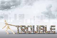 Concept of heavy troubles Stock Photo