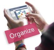 Concept hebdomadaire de planificateur d'activités de rappel de programme Photos stock