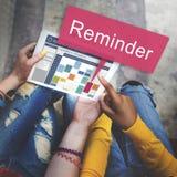 Concept hebdomadaire de planificateur d'activités de rappel de programme Photo libre de droits