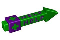 Concept: Help. 3D rendering. Stock Photo