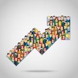Concept het aantrekken van klanten stock illustratie