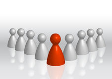 Concept het bedrijfs Rode van de Leiding Stock Afbeelding