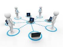 Concept het bedrijfs van het Netwerk 3d geef terug Stock Foto