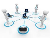 Concept het bedrijfs van het Netwerk 3d geef terug Royalty-vrije Stock Foto