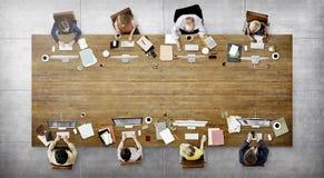 Concept het bedrijfs van Team Meeting Connection Digital Technology royalty-vrije stock afbeelding