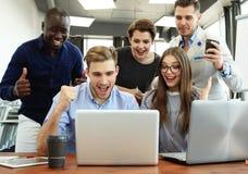 Concept het bedrijfs van Team Success Achievement Arm Raised royalty-vrije stock fotografie