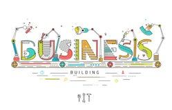 Concept het creëren van en de bouw van idee vector illustratie