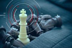 Concept het digitale diagram van de doelnadruk, virtuele grafiekinterfaces, royalty-vrije stock fotografie