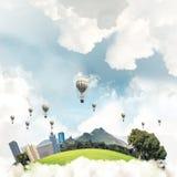 Concept het eco vriendschappelijke leven Royalty-vrije Stock Afbeeldingen